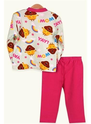 Breeze Kız Bebek Pijama Takımı Çıtçıtlı Desenli Fuşya (0-3-9 Ay) Fuşya